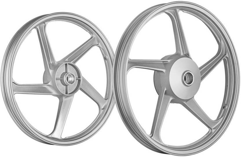 Splendor Alloy Wheel Modified Price, Fly Lion 274591 Front Rear Alloy Iron Hero Splendor Motorbike Tyre Rim Road, Splendor Alloy Wheel Modified Price