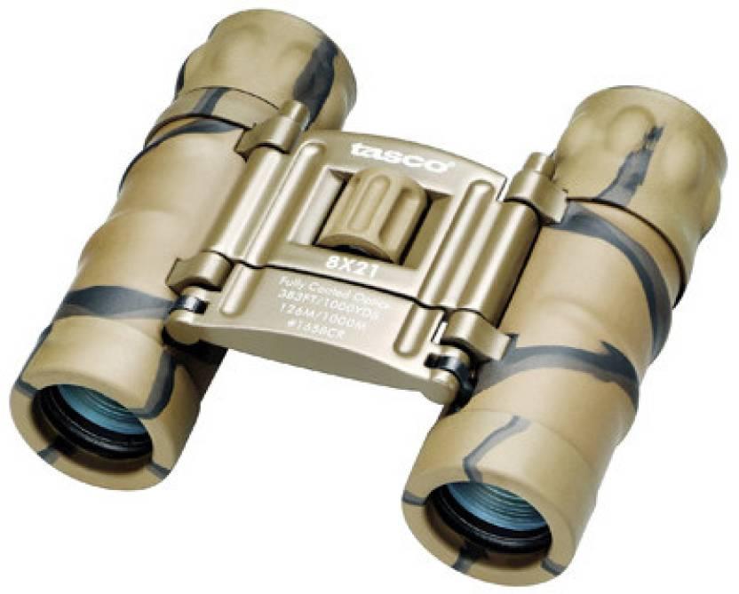 Tasco Essentials 8x21 FRP Compact Camo (Clam) Binoculars