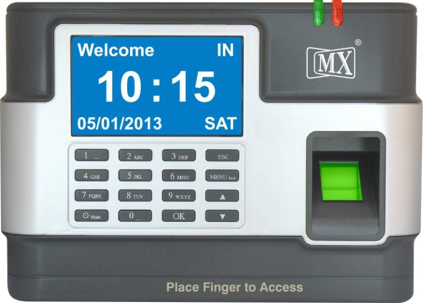 MX Biometric Finger Print Numeric Time Attendance Access Control System  with USB Backup 500 Fingerprint + 5000 Numeric_password Time & Attendance,