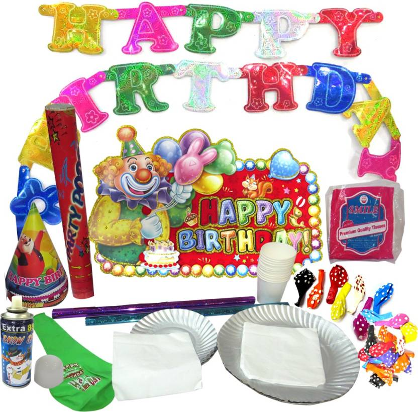 DCS Happy Birthday Party Kit Full For 65 People Arrangements Supplies