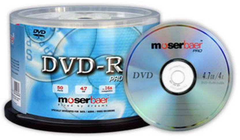 Moser Baer DVD-R Pro 50 Pack Normal Cake Box