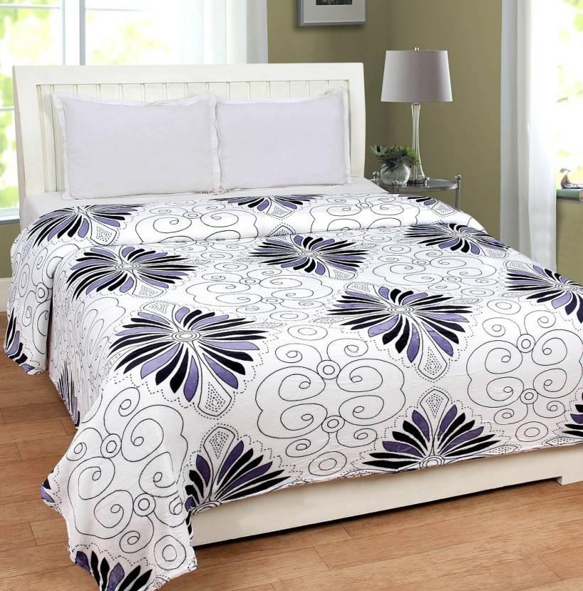 Upto 50% Or More off On Blankets By Flipkart | Zesture Floral Double Blanket Multicolor  (Coral Blanket, 1 Double Super soft Blanket) @ Rs.849