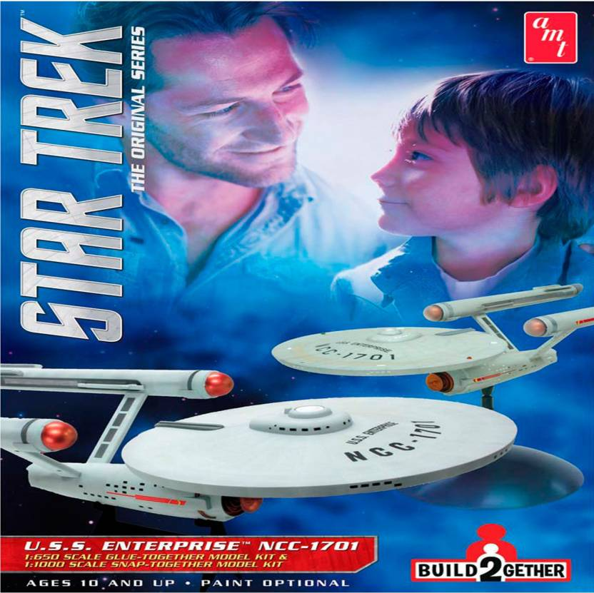 AMT USA 1/650 / 1/1000 Scale USS Enterprise NCC-1701 Plastic