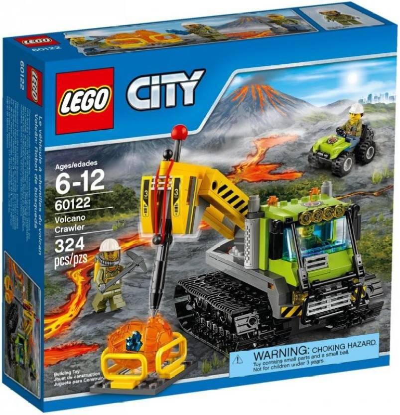 Mr  Fobu Lego city volcano crawler 60122 - Lego city volcano