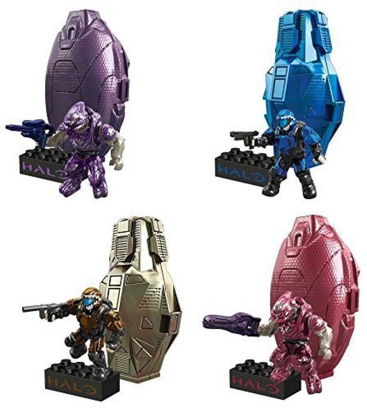 Halo Mega Bloks Set Of 4 Metallic Series 2 Drop Pods Copper