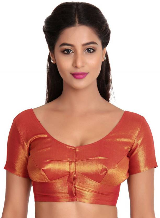 003694cf8bde1 JISB Fashion Neck Women s Stitched Blouse - Buy Maroon JISB Fashion Neck  Women s Stitched Blouse Online at Best Prices in India