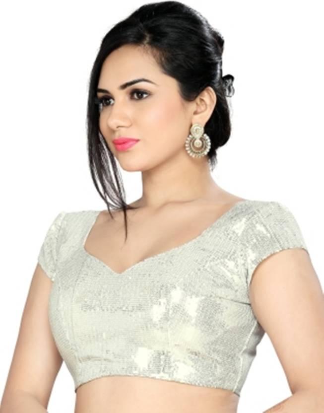 6ba20941ef8 Mangalam Boutique Round Neck Women s Stitched Blouse - Buy Silver Mangalam  Boutique Round Neck Women s Stitched Blouse Online at Best Prices in India  ...