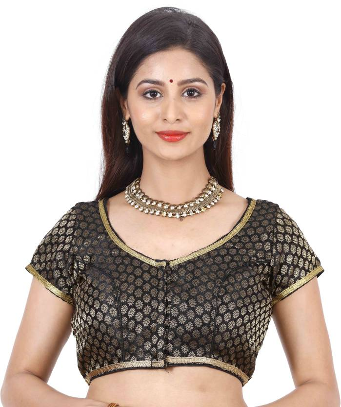 c8db8befedd3a JISB Fashion Neck Women s Stitched Blouse - Buy Multicolor JISB Fashion  Neck Women s Stitched Blouse Online at Best Prices in India