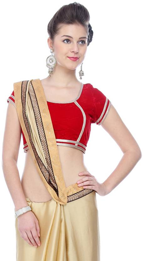 Mina Bazaar Round Neck Women's Stitched Blouse