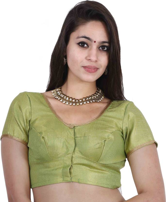 a1dcb85e3717b JISB Fashion Neck Women s Stitched Blouse - Buy Green JISB Fashion Neck  Women s Stitched Blouse Online at Best Prices in India