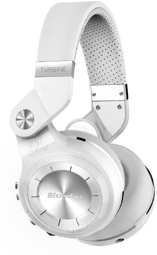 b1efe399f51 Bluedio T2s Turbine Bluetooth Wireless Stereo Headphones with Microphone  57mm Drivers Rotary Folding Headphone (White, Over the Ear)