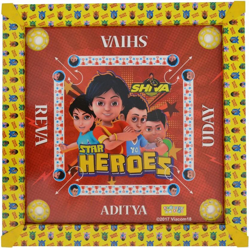 Kreative Kids Shiva Carom Board   20x20