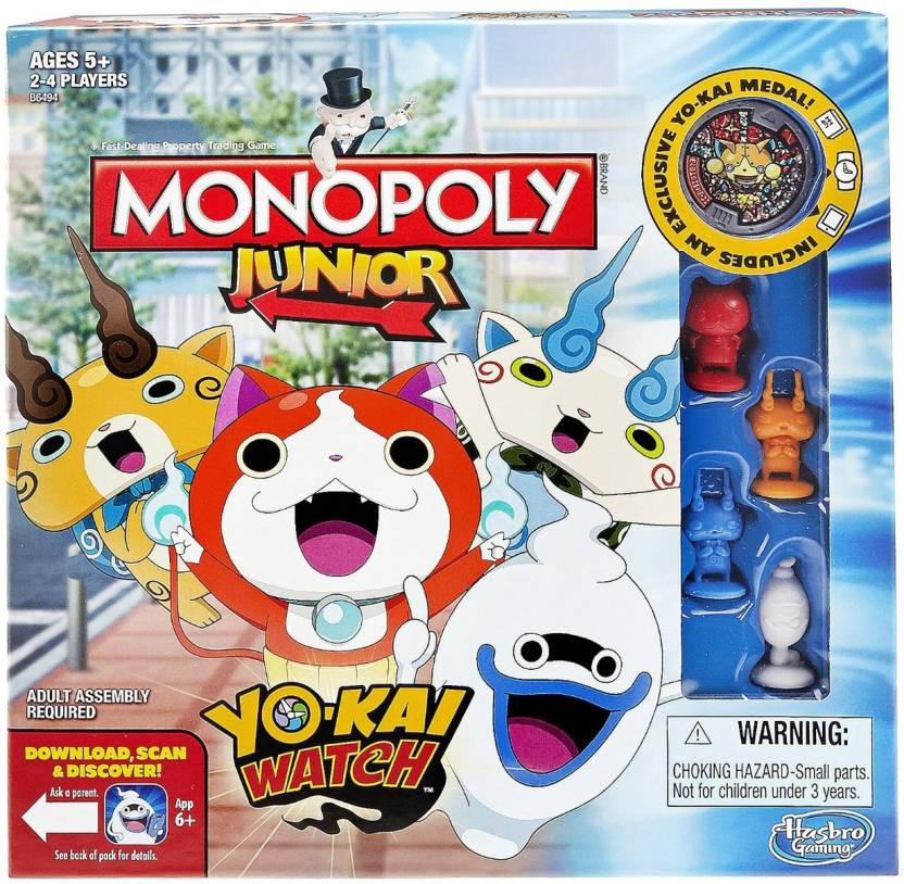 Hasbro Monopoly Junior Yo Kai Watch Edition Board Game