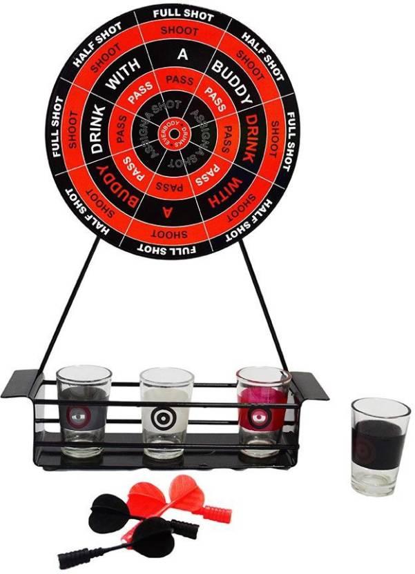 BARWORLD Mini Darts Shot Set Drinking Game Board Game