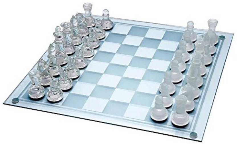 Imported Glass Chess Board Game - Glass Chess   Buy King