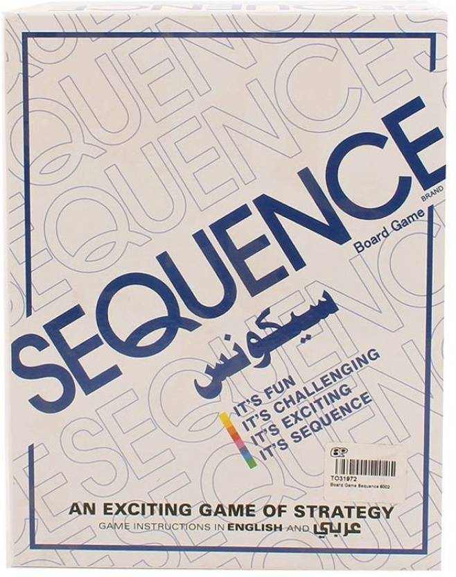 Out Of The Box Sequence Strategy Board Game For 2 To 12 Players