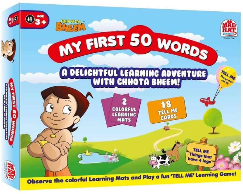 madrat choota bheem my first 50 words board game choota bheem my