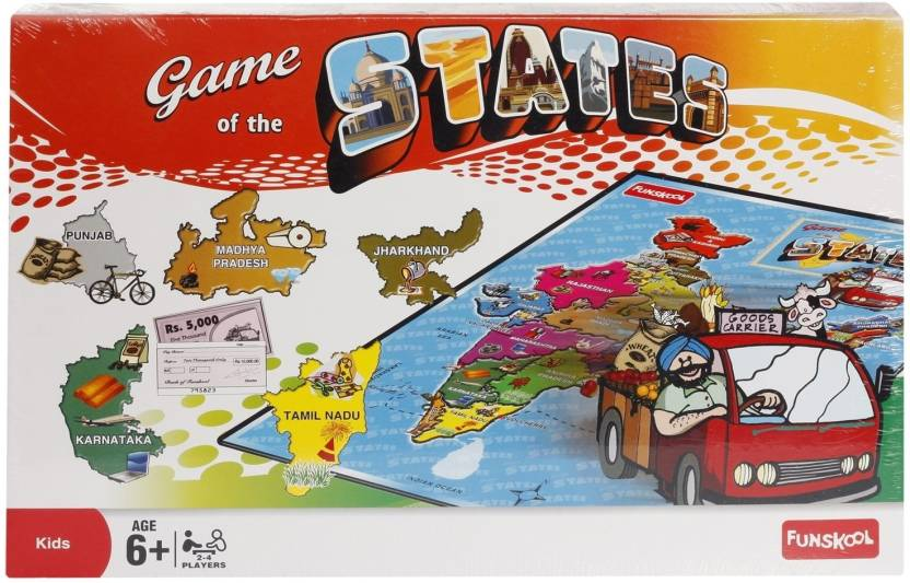 Funskool Game Of The States Board Game Game Of The States Shop For Funskool Products In India Toys For 6 10 Years Kids Flipkart Com