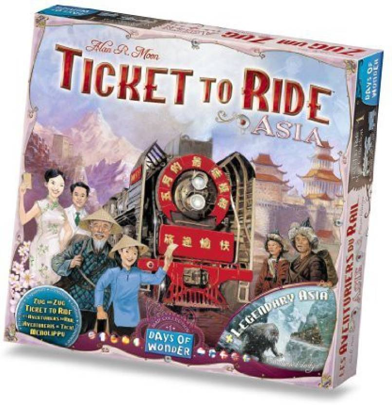 Ticket To Ride India Map.Days Of Wonder Ticket To Ride Asia Map Collection Volume 1 Board