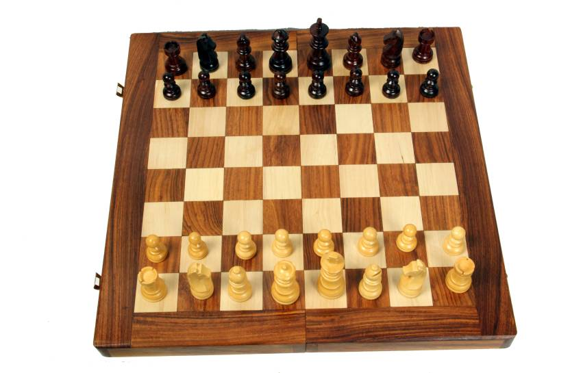 Woodpedlar 14 Folding Chess Set With Coins Che Board Game 14