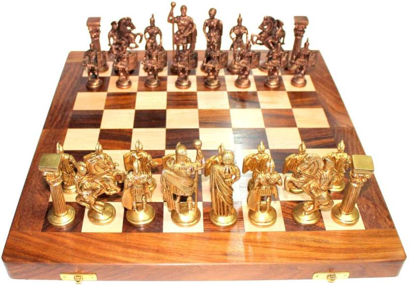 Propitup Vintage Chess Set 14 Inch Board