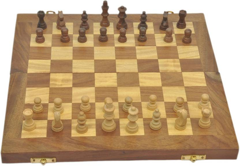 Artist Haat Beautiful Chess Board With Indian Rosewood Board Game