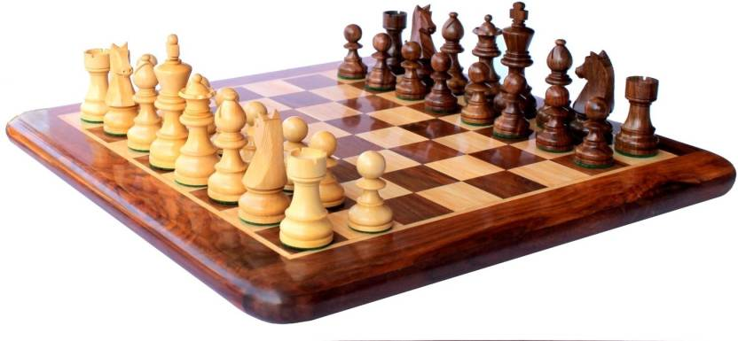 Stonkraft Collectible Rosewood Wooden Chess Set With Handcarved