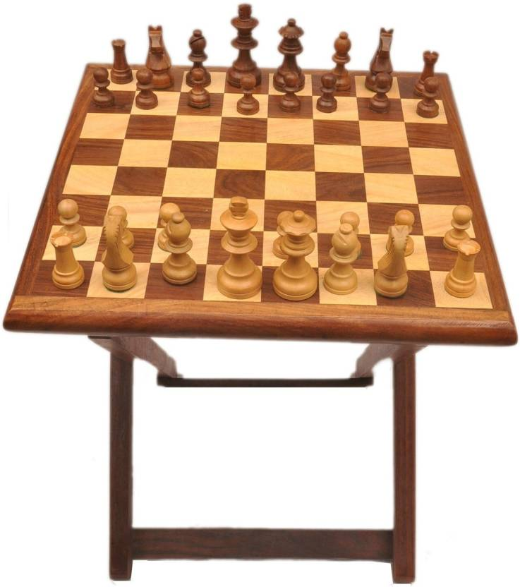 Artist Haat Chess Table With Sheesham Wood Board Game