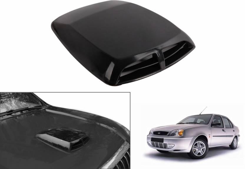 Speedwav Car Double Vent Air Intake Black Ford Ikon Bonnet Scoop