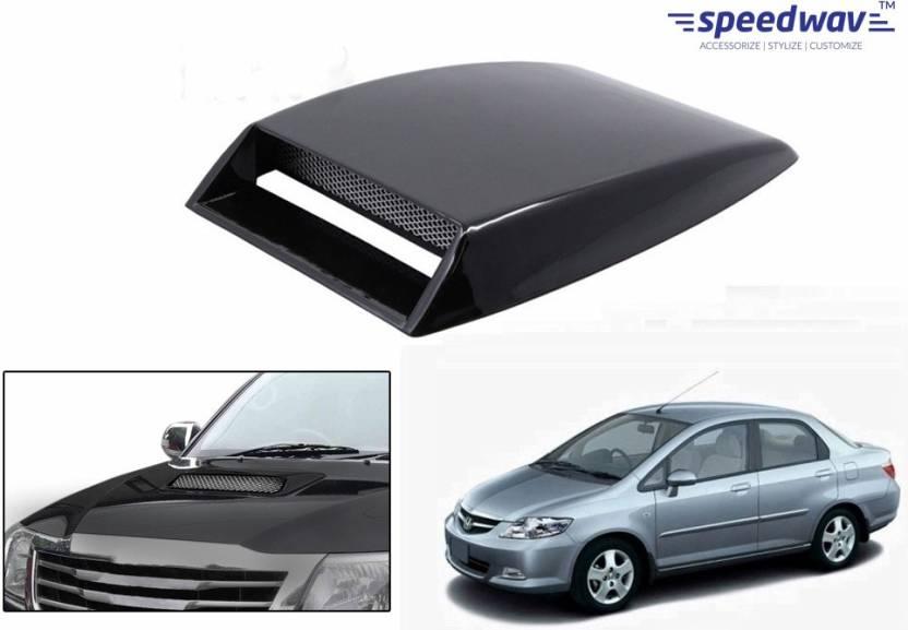 Speedwav Car Turbo Style Air Intake Black Honda City Zx Bonnet Scoop