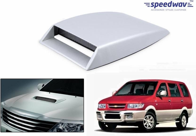 Speedwav Car Turbo Style Air Intake White Chevrolet Tavera Bonnet