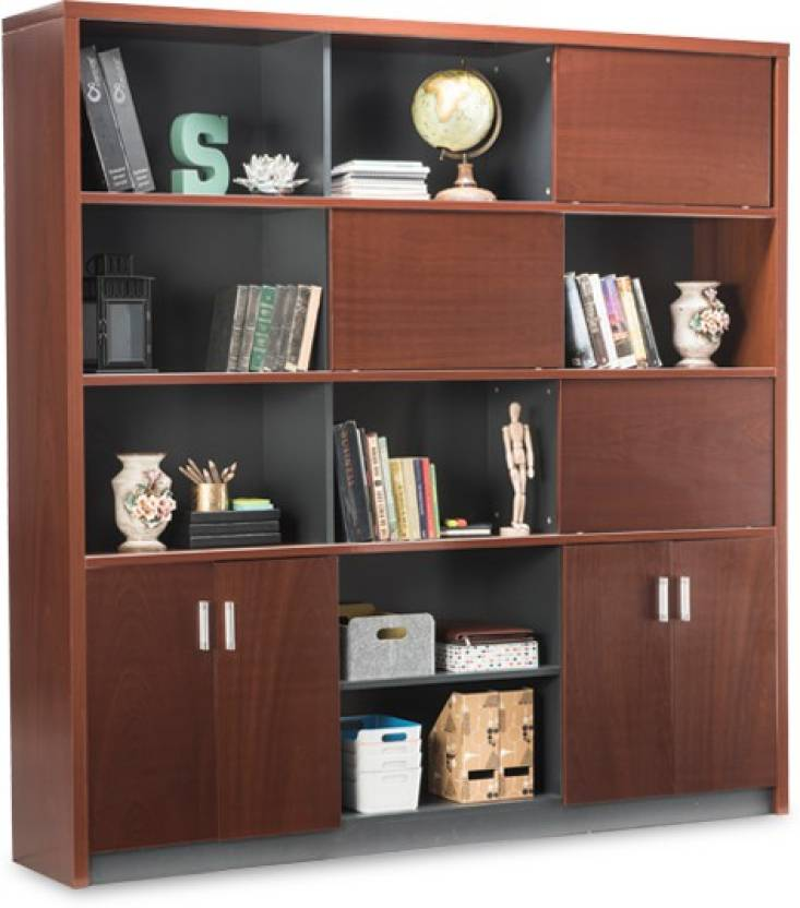 Durian TROVE Engineered Wood Open Book Shelf(Finish Color - Cherry)