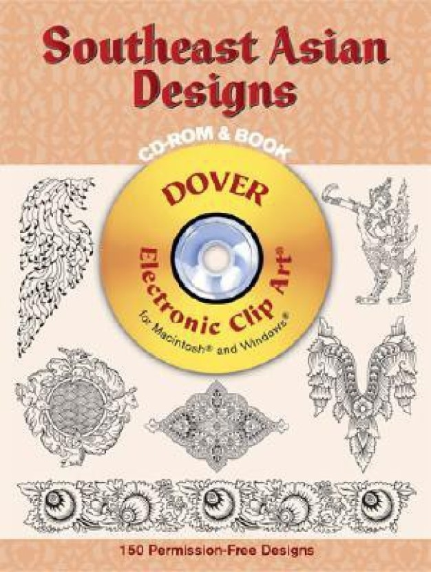 Art asian book cd clip design dover electronic rom southeast images