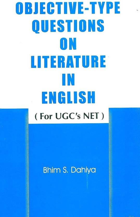 Objective Type Questions On Literature In English For UGC's NET