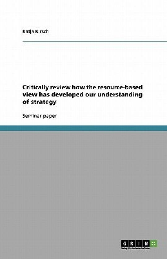 what is resource based view