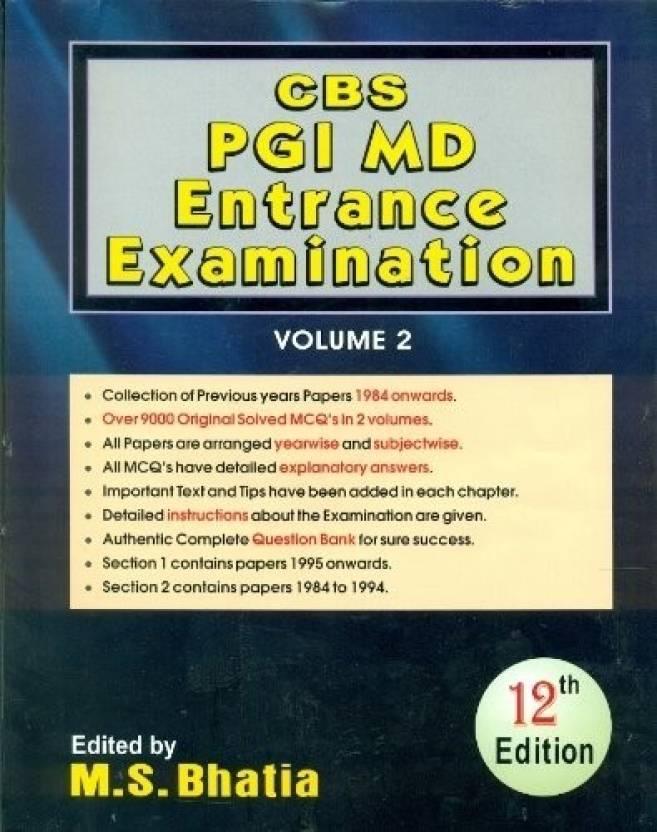 CBS PGI MD Entrance Examination - Volume 2 12th Edition