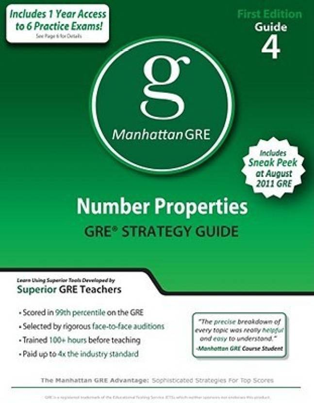 Number Properties GRE Preparation Guide, 1/e PB Pap/Psc Edition