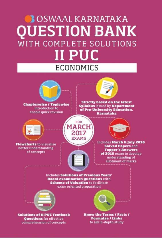 Oswaal Karnataka II PUC Question Bank With Complete Solutions For Economics