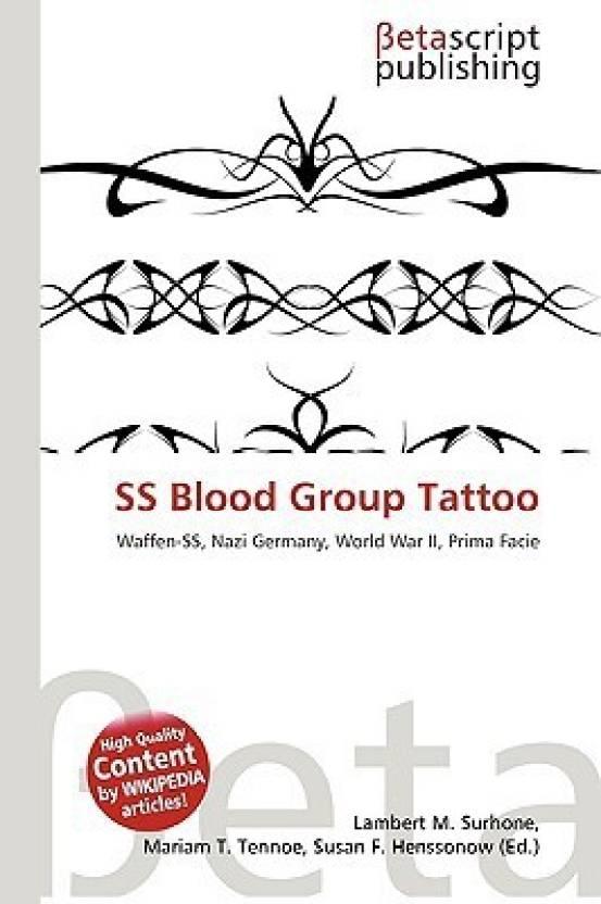 ss blood group tattoo buy ss blood group tattoo by lambert m