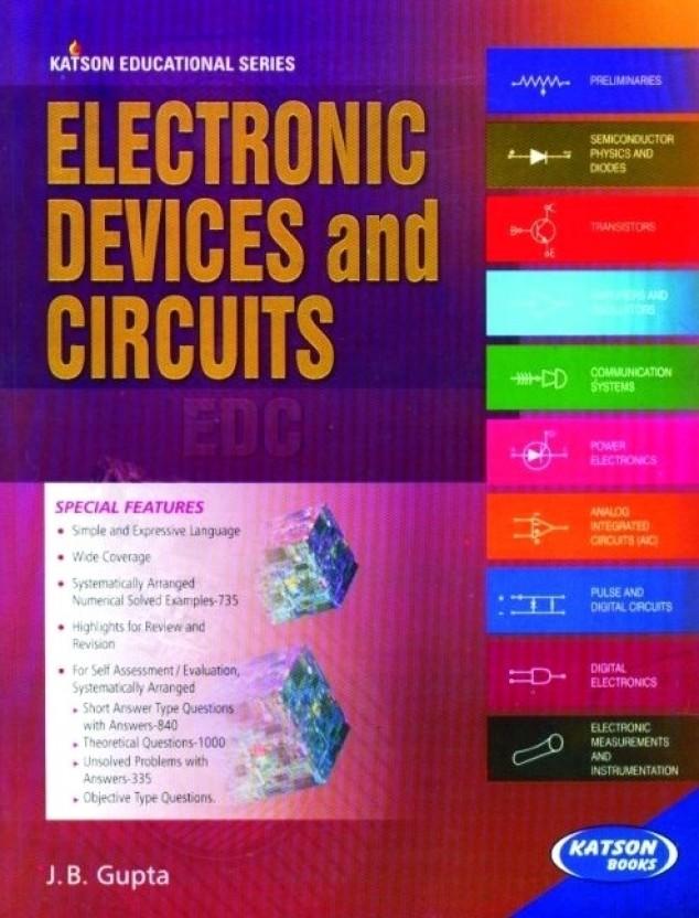 electronics devices and circuits 5 e pb 1st edition buy electronicselectronics devices and circuits 5 e pb 1st edition (english, paperback, j b gupta)