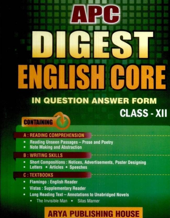 APC Digest English Core in Question Answer Form (Class - 12)