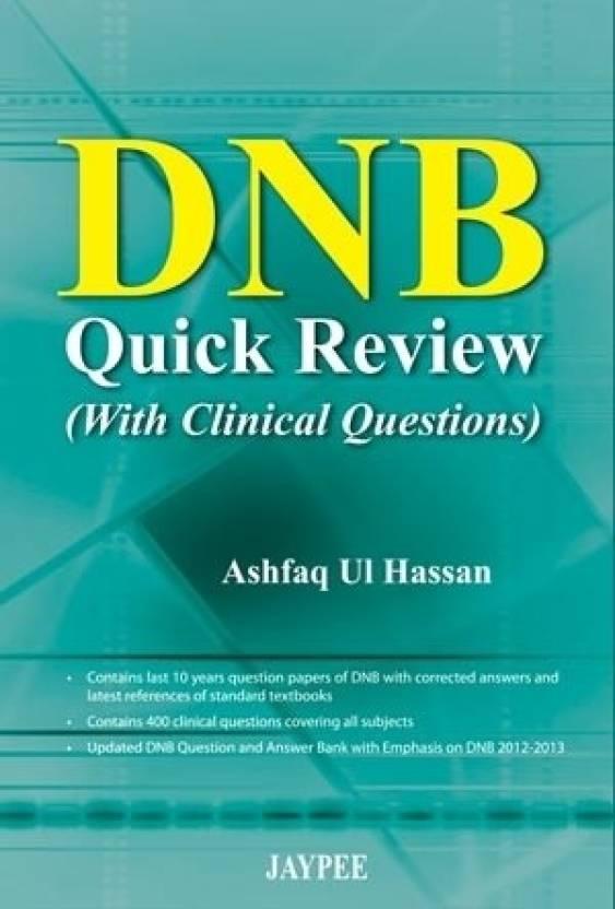 DNB Quick Reviewwith Clinical Questions 1st  Edition