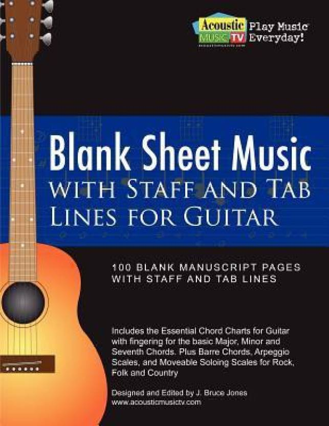 Blank Sheet Music With Staff And Tab Lines For Guitar 100 Blank
