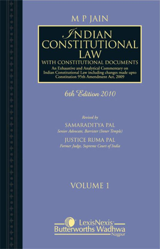 M P Jain Indian Constitutional Law Volume 2 6th Edition Edition