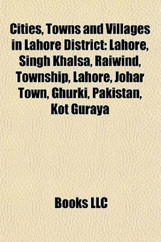 Cities, Towns and Villages in Lahore District: Lahore, Singh