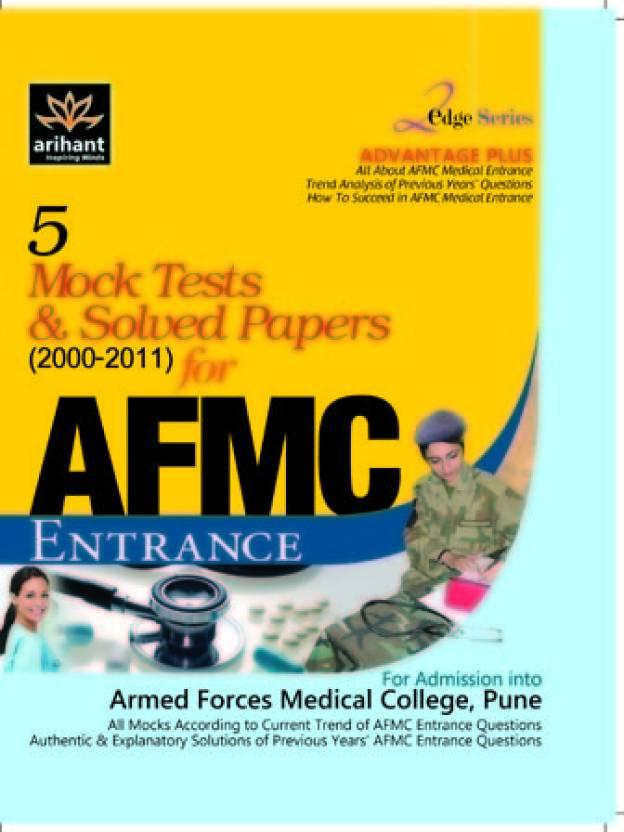 5 Mock Tests & Solved Papers for AFMC Enterance 1st Edition