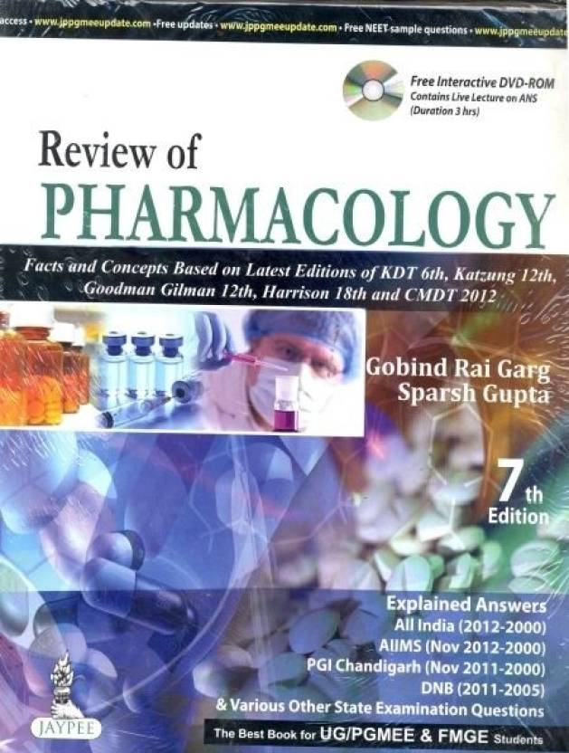 REVIEW OF PHARMACOLOGY WITH DVD-ROM 7th  Edition