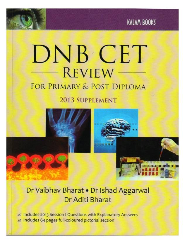DNB CET Review for Primary and Post Diploma 2013 Supplement PB 1st  Edition