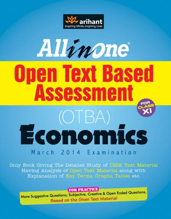 economics otba Commerce economics class xi humanities otba sample papers for class xi humanities economics otba for important themes : material for open text based assessment.