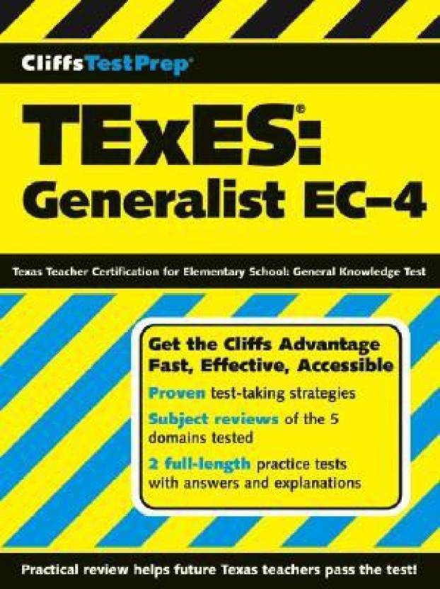 Texes Generalist Ec 4 Texas Teacher Certification For Elemenatary